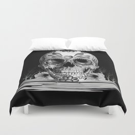 Pulled sugar, day of the dead skull Duvet Cover
