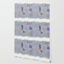 Sliding into Home - Winter Snowboarder Wallpaper