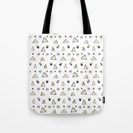 hazelnuts & triangles. Tote Bag
