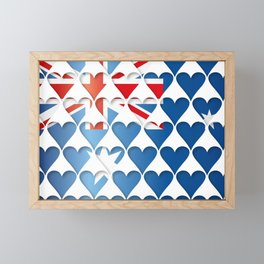 Australia Hearts Flag Framed Mini Art Print