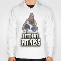 fitness Hoodies featuring EXTREME FITNESS  by Robleedesigns