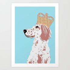 English Setter Dog Art  Art Print