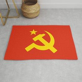 Communist Hammer & Sickle & Star Rug