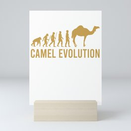 this girl loves camels the woman loves camels camels Mini Art Print