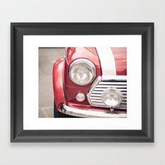 Red Mini Cooper Framed Art Print