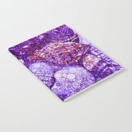 Seashells Abstract in Violet Notebook