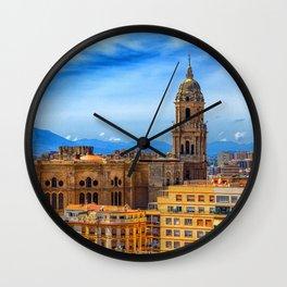 Church in Malaga Wall Clock