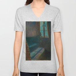 Edvard Munch - Night in Saint-Cloud - Digital Remastered Edition Unisex V-Neck