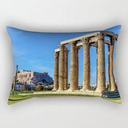 ruins of ancient temple of Zeus, Athens, Greece, HDR photo Rectangular Pillow