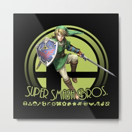 Link - Super Smash Bros. Metal Print