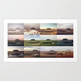 the clump through the seasons Art Print