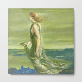 "Sir Edward Coley Burne-Jones ""Evening"" Metal Print"