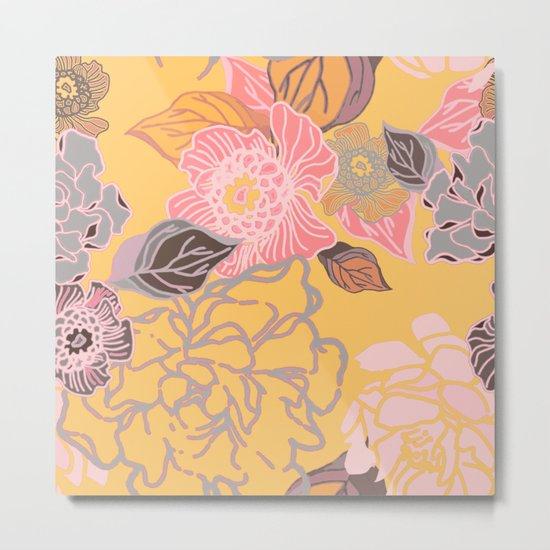 Jungle Blossoms Metal Print