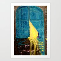 Waiting at the gate of the Beloved Art Print
