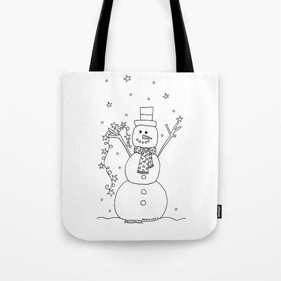 The Magical Snowman Tote Bag