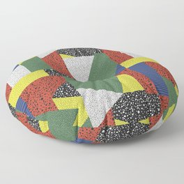 Postmodern Puzzle No. 2 Floor Pillow
