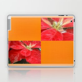 Mottled Red Poinsettia 1 Ephemeral Blank Q8F0 Laptop & iPad Skin