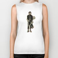 squirtle Biker Tanks featuring Retro Squirtle by J-Marinho