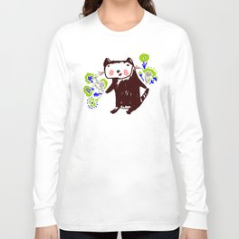 A little otter with flowers Long Sleeve T-shirt