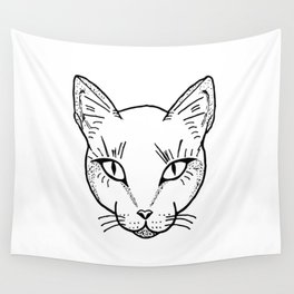 Cat Dotwork Wall Tapestry
