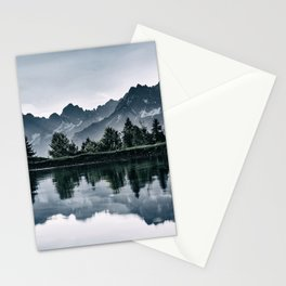 Switzerland lake b&w Stationery Cards