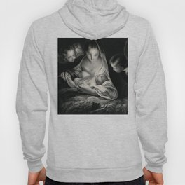 The Nativity, Virgin Mary with Infant Jesus surrounded by Angels Hoody
