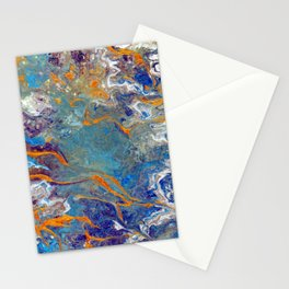 Fire and Ice 2 - Flow Acrylic Abstract Stationery Cards