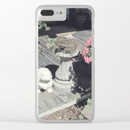 Soft Vintage Morning Clear iPhone Case