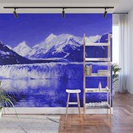 Glacier Bay Blue Wall Mural