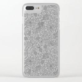 Bells Flower - BUTTERFLIES - CAMPANULA GRAY Clear iPhone Case