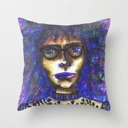 Stabilo Girl Throw Pillow