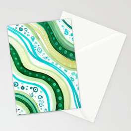 Abstract Ocean Stationery Cards