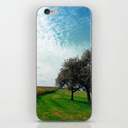Cornfields, trees and lots of clouds | landscape photography iPhone Skin