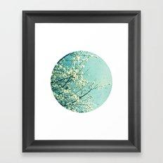 Blossom circle Framed Art Print