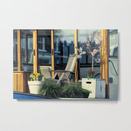 On this houseboat you´re sitting in the first row Metal Print