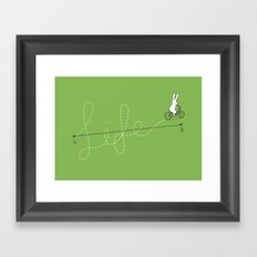 Life is a Journey Framed Art Print