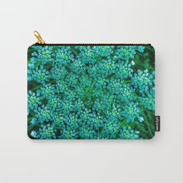 Turquoise Queen Anne's Lace Carry-All Pouch