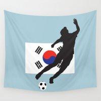 korea Wall Tapestries featuring Korea Republic - WWC by Alrkeaton
