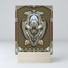 Claddagh Hawk - Celtic Inspired Art Deco Mini Art Print