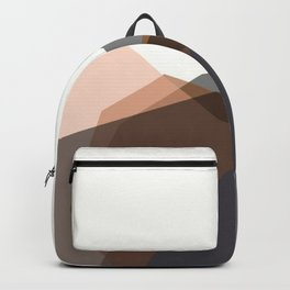 geometric mountains Backpack