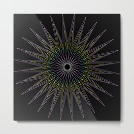 Mandala Star Burst Metal Print
