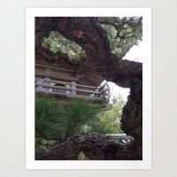 Temple through the Trees Photograph Art Print