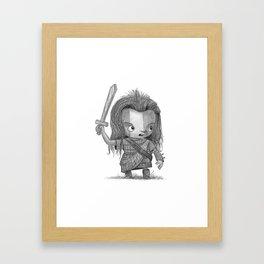 Lil Braveheart Framed Art Print