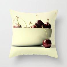 cherries V Throw Pillow