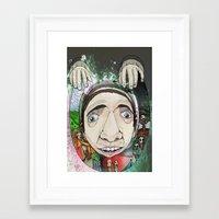 creepy Framed Art Prints featuring Creepy by Paul Matthews