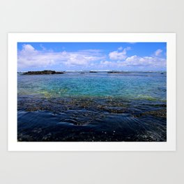 TIDES POOLING Art Print