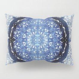 Boho Brocade Blue Mandalas Pillow Sham