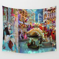 carnival Wall Tapestries featuring Carnival Moon by Aimee Stewart