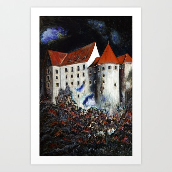 Loket Castle Art Print