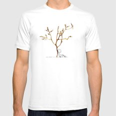 Grape tree Mens Fitted Tee MEDIUM White
